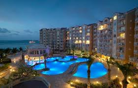 Resort in Aruba at night