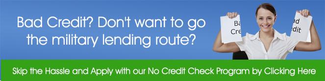 Bad Credit Military Loans >> Military Loans Connection No Credit Military Loans Available For